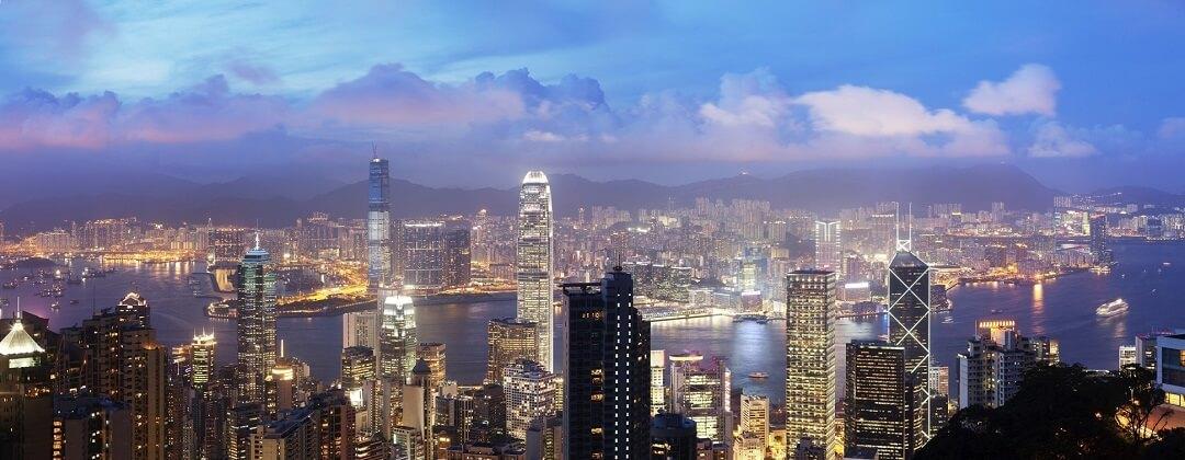 Uitzicht vanaf Victoria Peak – Hong Kong Island