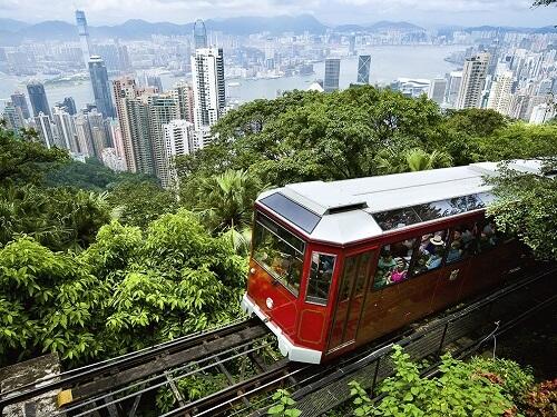 Peak Tram op Victoria Peak - Hong Kong, S.A.R. China