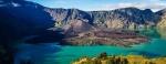 Gunung Rinjani, een vulkaan op Lombok, Indonesië